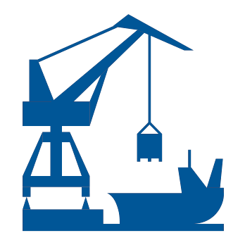 Mobile harbour crane spreader